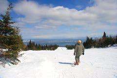 Esqui em Le Massif fotografia de stock royalty free