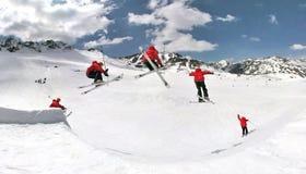 Esqui extremo no parque da neve Fotos de Stock