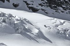Esqui na geleira Foto de Stock Royalty Free