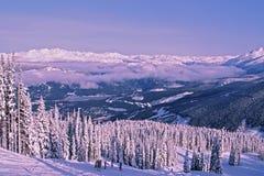 Esqui na montanha do assobiador Foto de Stock Royalty Free