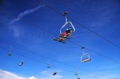 Esqui no La Thuile Itália imagem de stock royalty free