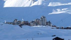 Esqui-Recurso do Claret de Tignes/Val Foto de Stock Royalty Free
