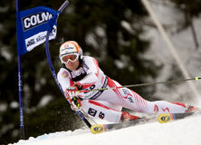 ESQUI: Slalom alpino do gigante de Alta Badia do copo de mundo do esqui Fotos de Stock Royalty Free