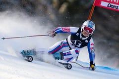 ESQUI: Slalom do gigante de Lienz fotografia de stock