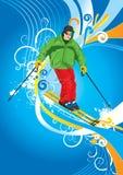 Esquiador Fotografía de archivo libre de regalías