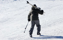Esquiador Fotografía de archivo