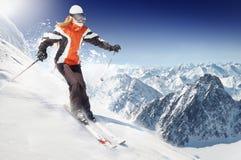 Esquiador Foto de Stock Royalty Free