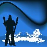 Esquiador ilustración del vector