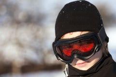 Esquiador adolescente Fotos de archivo libres de regalías