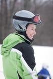 Esquiador adolescente Foto de archivo libre de regalías