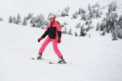 Esquiador da menina Foto de Stock