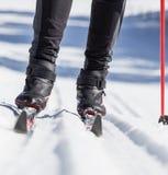 Esquiador de Backcountry foto de archivo libre de regalías