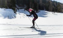 Esquiador de Backcountry fotos de archivo libres de regalías