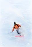 Esquiador de Freeride en nieve del polvo Imagen de archivo libre de regalías