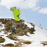 Esquiador de la cometa Imágenes de archivo libres de regalías