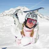 Esquiador de la mujer Imágenes de archivo libres de regalías