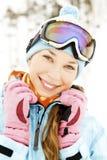 Esquiador de sexo femenino Imagenes de archivo
