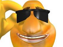 Esquiador de sorriso feliz Imagens de Stock Royalty Free