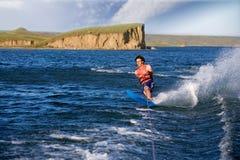 Esquiador del agua Foto de archivo libre de regalías