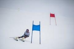 Esquiador del eslalom en Gudauri, Georgia Foto de archivo libre de regalías