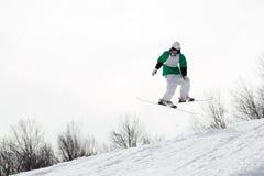Esquiador del estilo libre Imágenes de archivo libres de regalías