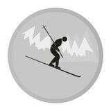 Esquiador del icono del vector Fotografía de archivo