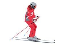 Esquiador del vector Fotografía de archivo libre de regalías