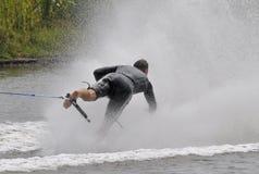 Esquiador descalço 09 da água Imagens de Stock