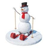 Esquiador do boneco de neve foto de stock