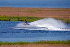Esquiador do jato Fotografia de Stock Royalty Free