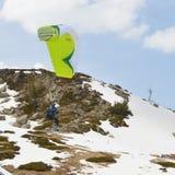 Esquiador do papagaio imagens de stock royalty free