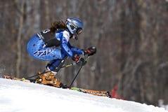 Esquiador en la raza de la taza de Pontiac Imagen de archivo libre de regalías