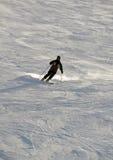 Esquiador en nieve del polvo Imagen de archivo libre de regalías