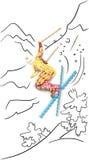 Esquiador en salto. Imagen de archivo libre de regalías