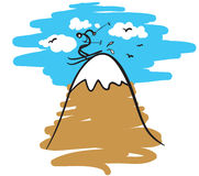 Esquiador en una montaña ilustración del vector