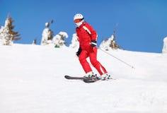 Esquiador fêmea   Foto de Stock Royalty Free