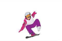 Esquiador. Imagem do vetor Fotografia de Stock Royalty Free