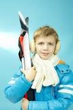 Esquiador joven Fotografía de archivo