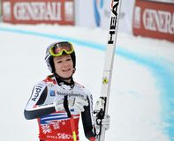 Esquiador Maria Hoefl-Riesch, copo de mundo 2012 do esqui Fotografia de Stock