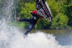 Esquiador na ação Imagens de Stock