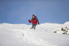 Esquiador no esqui da ação Imagem de Stock Royalty Free
