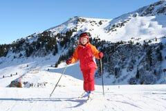 Esquiador novo fotografia de stock