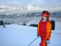 Esquiador novo imagem de stock
