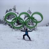 Esquiador olímpico Fotos de Stock Royalty Free