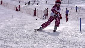 Esquiador pequeno video estoque