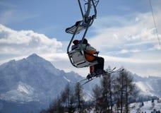 Esquiadores Foto de archivo