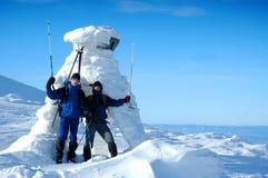 Esquiadores Foto de Stock