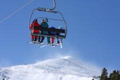 Esquiadores Foto de archivo libre de regalías