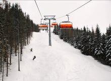 Esquiadores imagem de stock