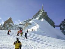 Esquiadores Fotografía de archivo